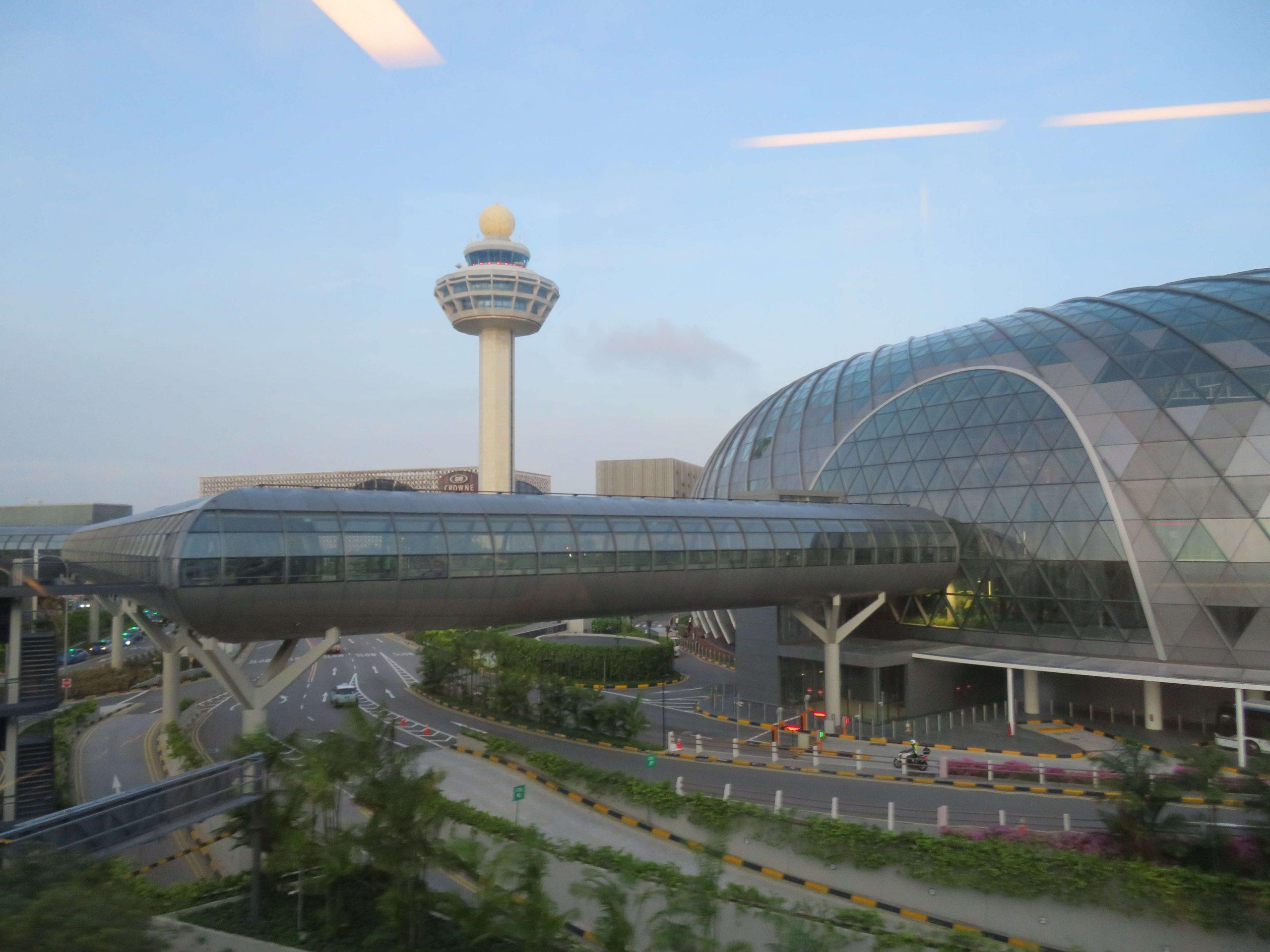Vue extérieure de l'aéroport Aéroport de Singapour Changi